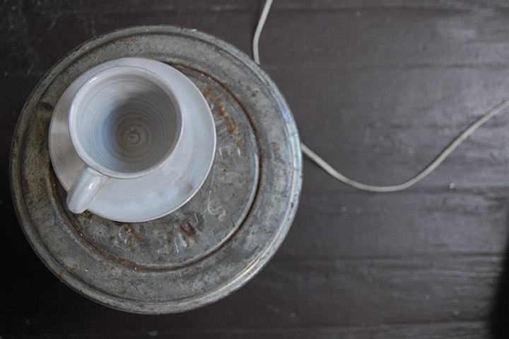 One to Watch- Brooklyn Based Potter Helen Levi Grey Ceramic Tea Cup and Saucer | DeSmitten