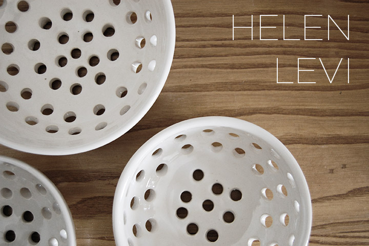 One to Watch- Brooklyn Based Potter Helen Levi White Ceramic Colandar | DeSmitten