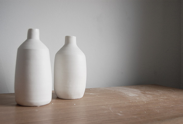 One to Watch- Brooklyn Based Potter Helen Levi White Ceramic Vases  | DeSmitten