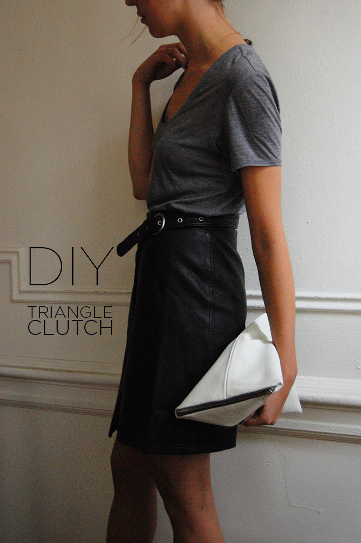 DIY: Triangle Clutch - DeSmitten Design Blog