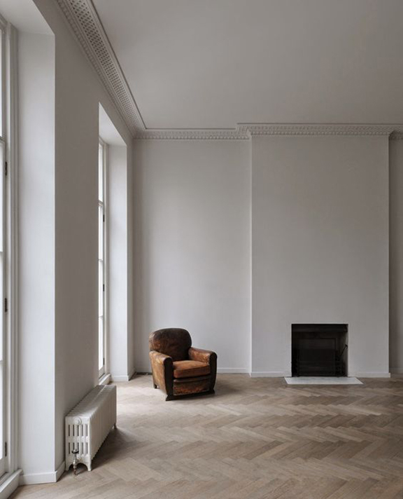 Interior inspiration minimalist fireplace desmitten for Minimalist design inspiration